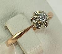 Кольцо с бриллиантом золотое 585 проба