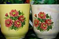Чашки керамические в цветах