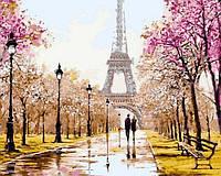 Живопись по цифрам Турбо Рання весна. Париж худ. Ричард Макнейм (VP768) 40 х 50 см