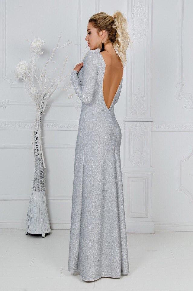 Платье в пол люрекс 22310