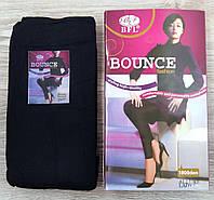 Лосины женские эластик с начёсом BFL BOUNCE Fashion, 1800 Den, 2 шва, чёрные, 9301