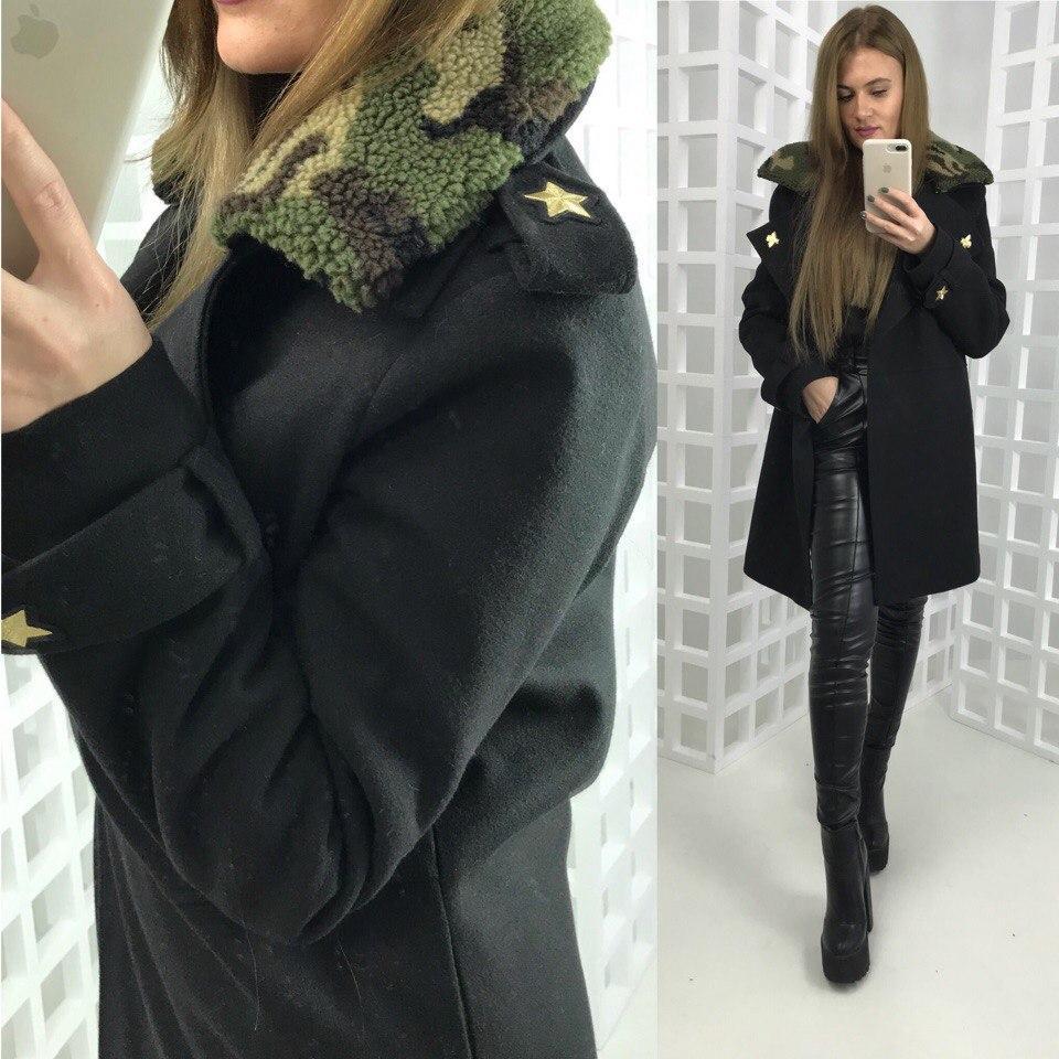 Зимнее кашемировое пальто в стиле
