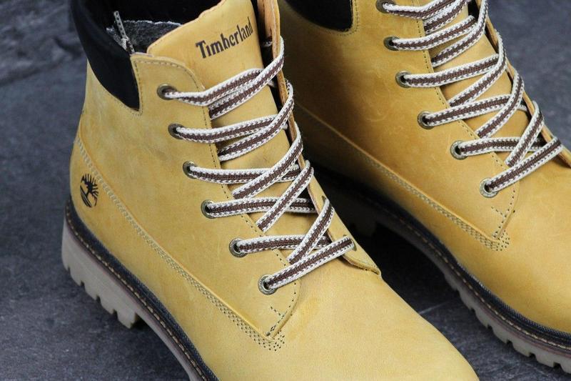 Чоловічі зимові черевики Timberland рижі (3283) 4d46686305b15