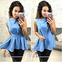 Женская блузка без рукавов и поясом, фото 1