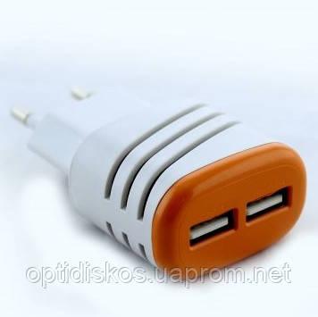 Переходник от сети для USB устройств (2 USB)