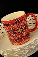 Чашка Вышиванка, красная