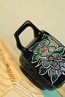 Чашка кофейная Цветы, глазурь
