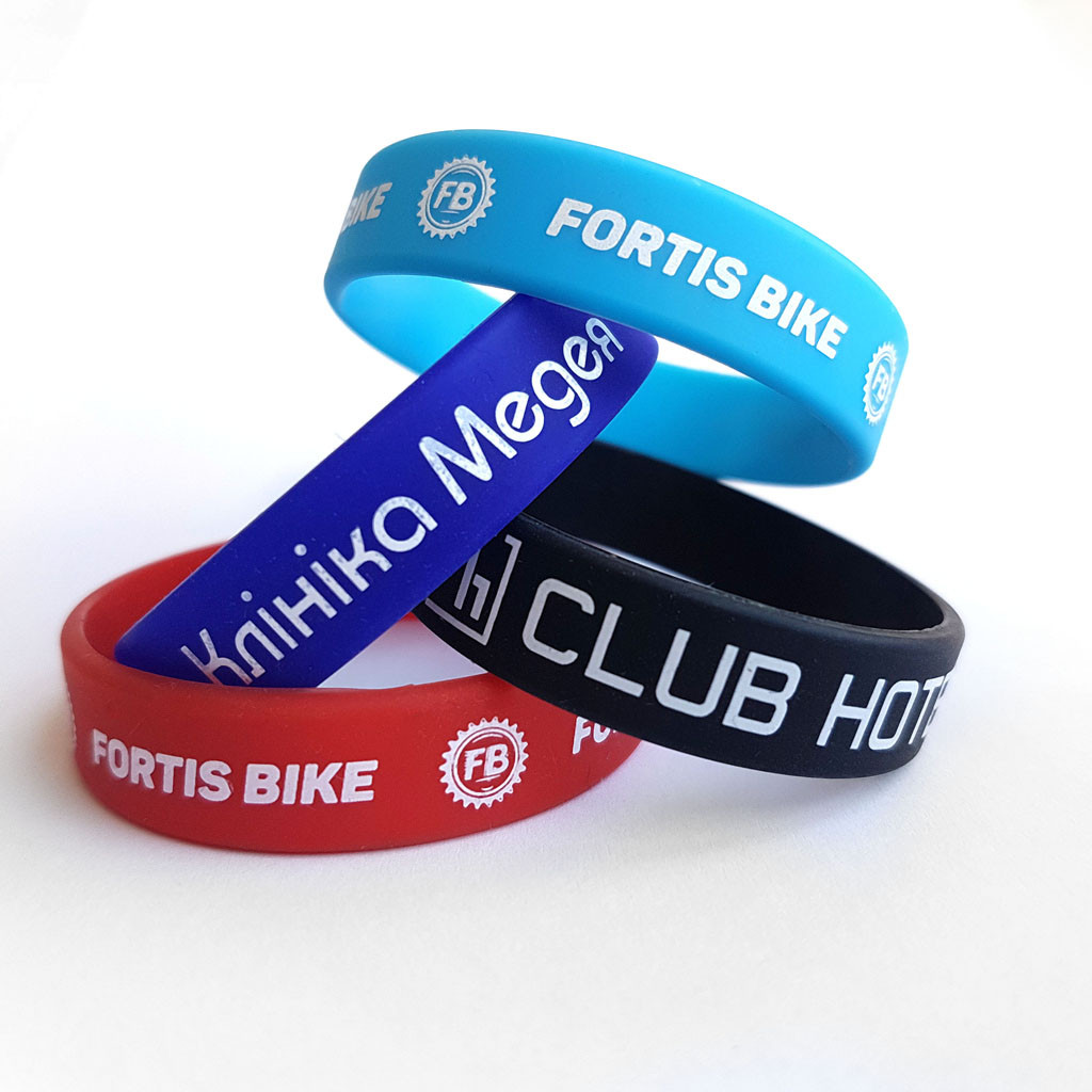 036cd367 Силиконовые браслеты с нанесением краски в 1 цвет от 500 шт от ...