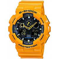 Часы мужские Casio G-Shock GA-100 желтый с черным