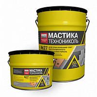 Мастика битумная для гидроизоляции бетона, дерева и фундамента № 27, ведро 22 кг   Цена мастики Технониколь