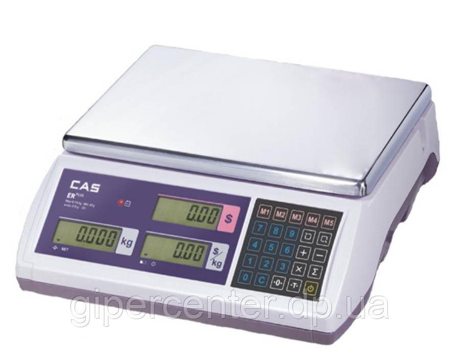 Весы торговые CAS ER Plus E до 15 кг