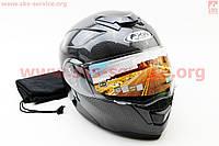 Шлем трансформер с очками карбон глянец  размер  L 59- 60 см