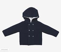 Вязаный кардиган. Детская кофта с капюшоном Blue Mori Baby (размеры 0-24), Англия