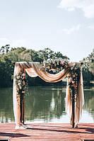 Свадебная деревянная арка в стиле Рустик, Бохо двойная