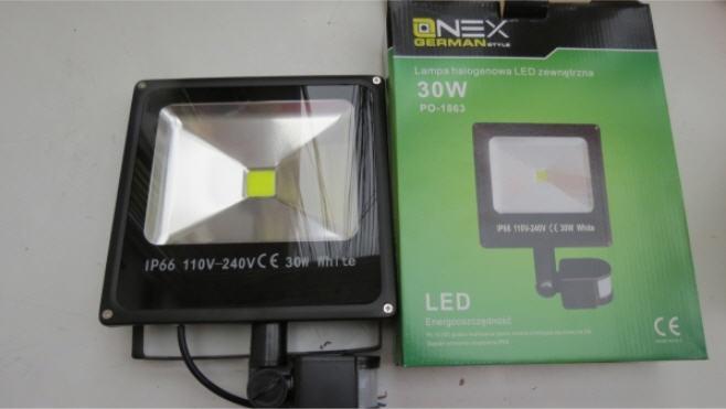 Прожектор светодиодный Led 30w с датчиком движения