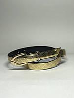 Женский ремень тонкий Р-3 (золото)