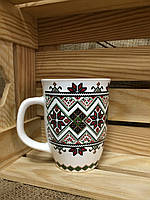 Чашка европа вышиванка белая