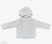 Вязаный кардиган. Детская кофта с капюшоном Grey Mori Baby (размеры 0-24), Англия
