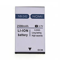 Аккумулятор NOMI NB-242 для i242 2500 mAh Батарея оригинальная. Гарантия: 1год.