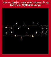Уличная профессионаная гирлянда String 10m (Нить) 100 LED (в цветах)!Акция