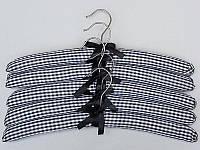 """Плечики тканевые мягкие  """"квадрат"""" черные, 38 см, 5 штук  в упаковке"""