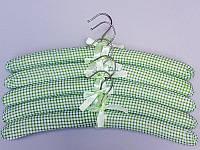 """Довжина 38 см. Плічка тканинні м'які """"квадрат"""" зелені, 5 штук в упаковці"""