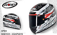 Стильный фирменный шлем Suomy   APEX SKETCH размер XХХL