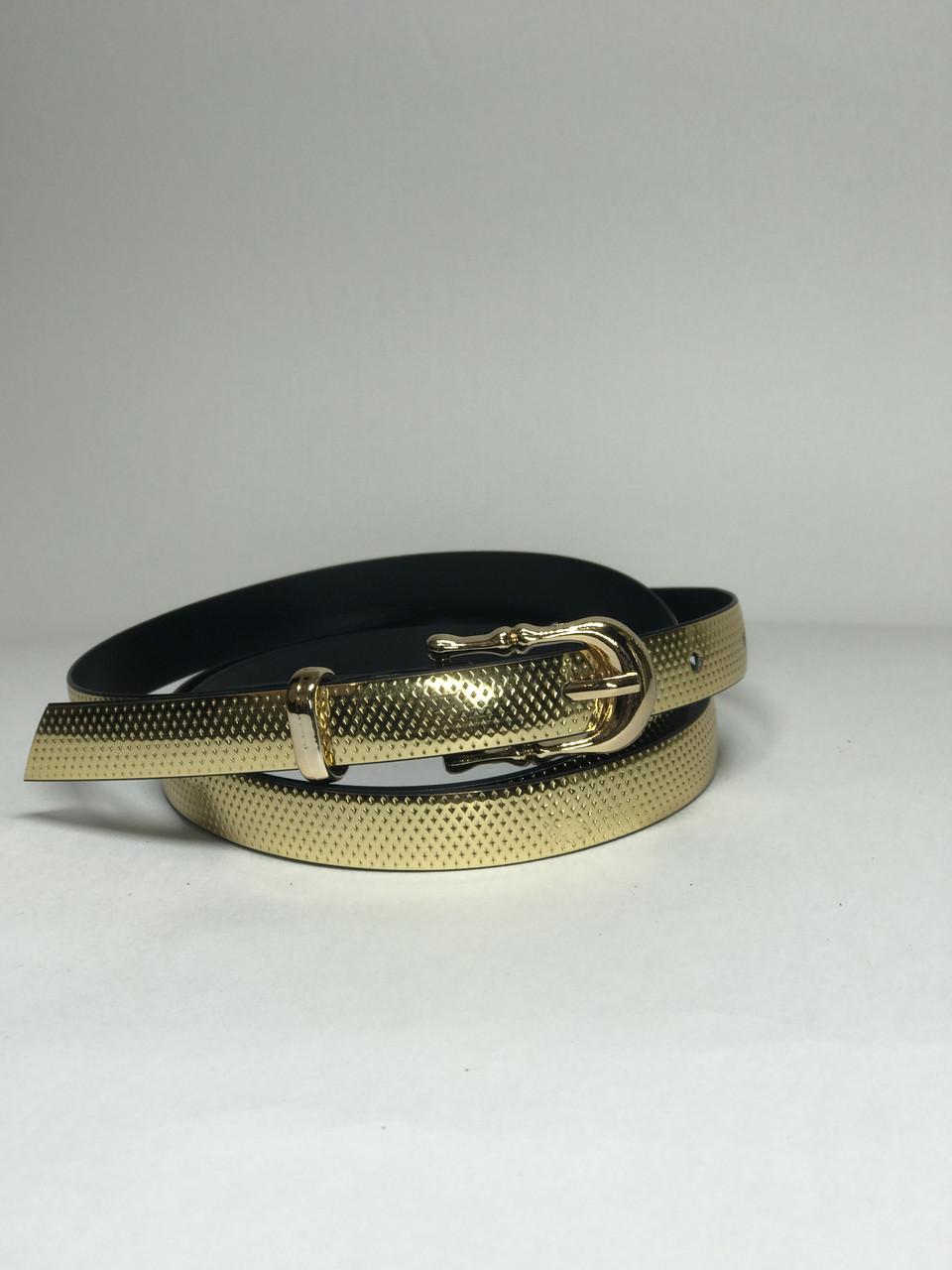 Женский ремень тонкий Р-5 (золото)