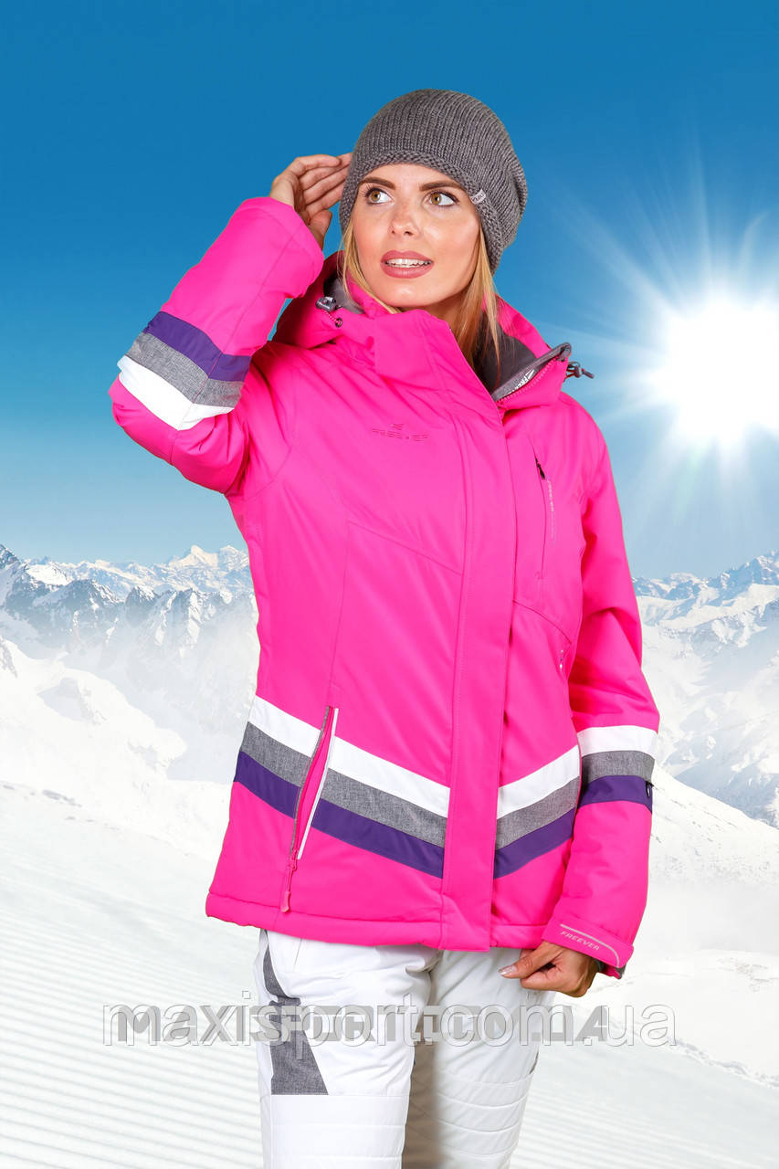 Куртка горнолыжная женская Freever 7223 Hotpink