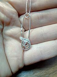 Серебряная булавка Ива