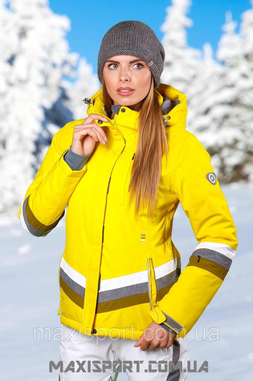 Куртка горнолыжная женская Freever 7223 Yellow