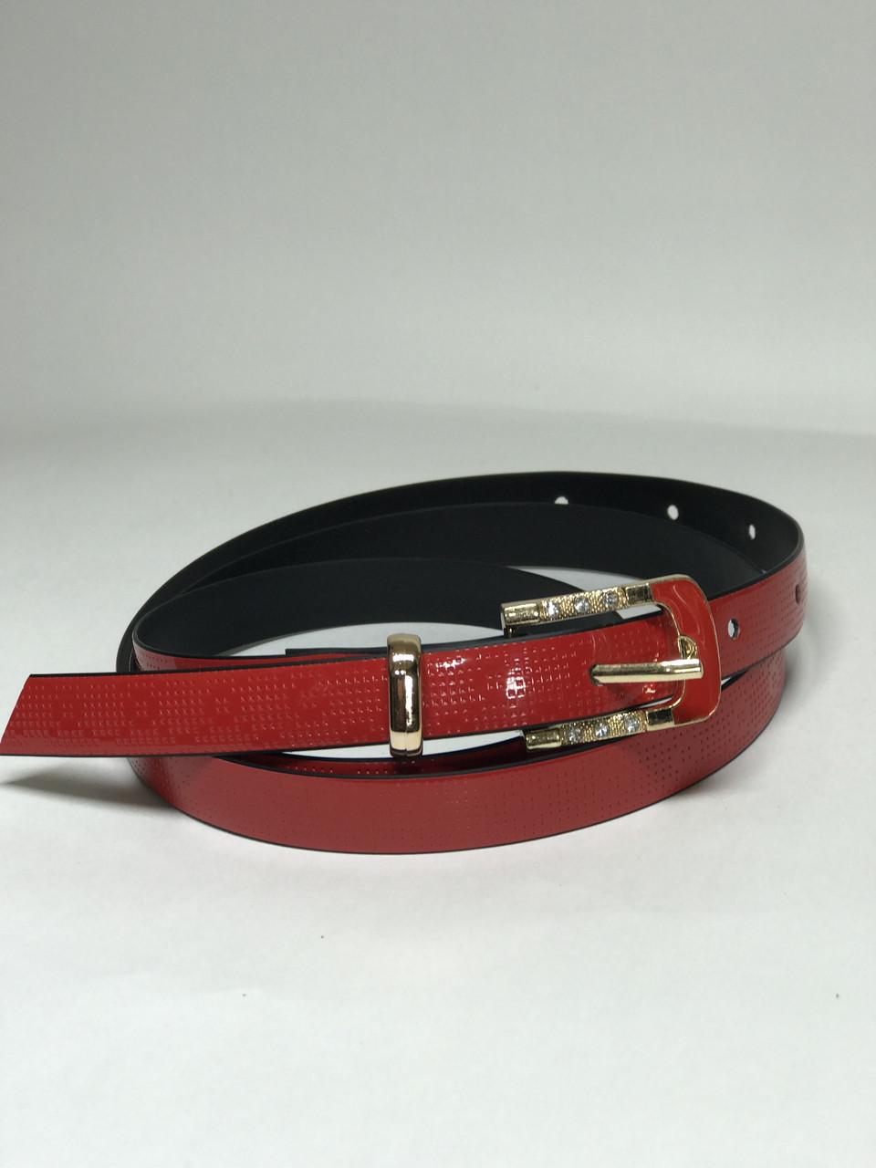Женский ремень тонкий Р-8 (красный)