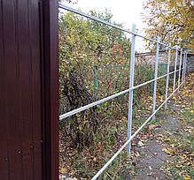 Столб для забора 2 метра, стальной Столбик для профнастила. 50х50мм, фото 3