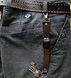 Кожаный брелок для ключей c карабином, фото 6