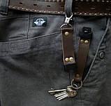 Кожаный брелок для ключей c карабином, фото 9