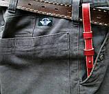 Кожаный брелок для ключей c карабином, фото 10