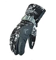 Перчатки горнолыжные WILD SNOW - влагозащита, ветрозащита (STONE BLACK)