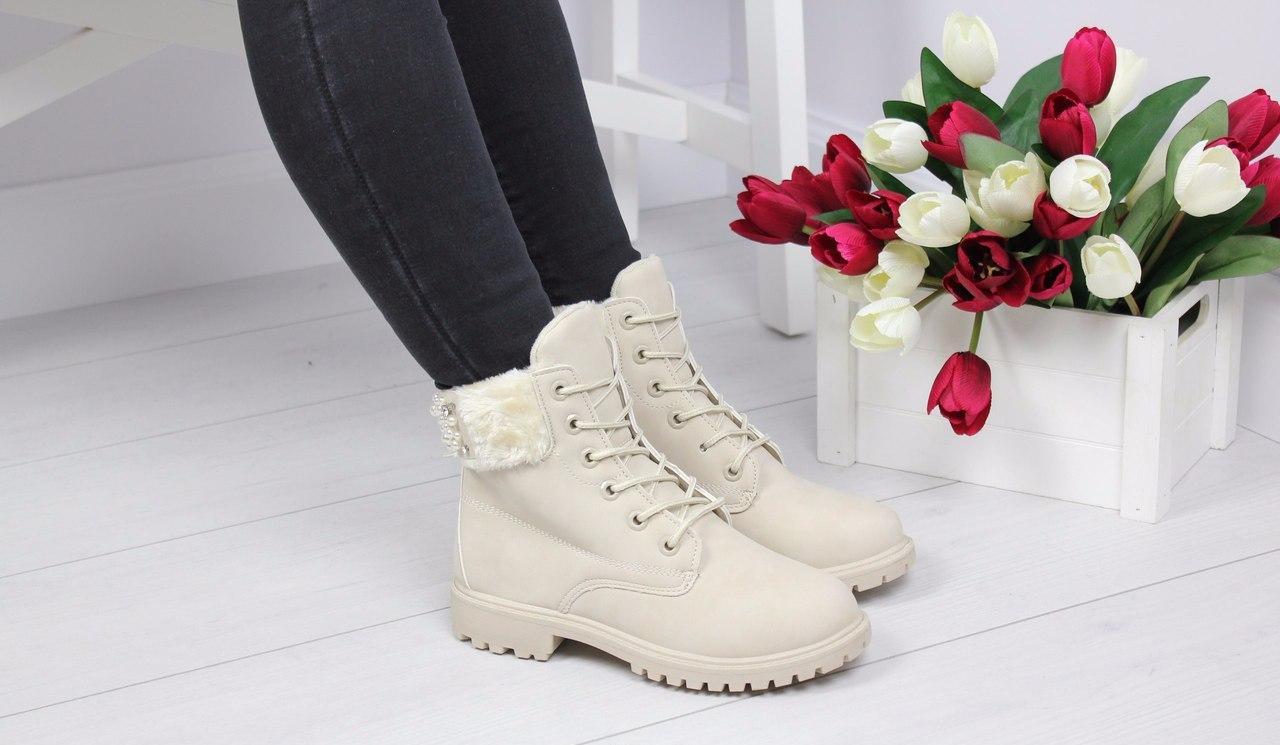 Женские ботинки Casual PEARL (бежевый)