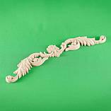 Код ДГ20.Деревянный резной декор для мебели. Декор горизонтальный, фото 2