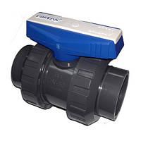 Кран шаровой двухпозиционный ПВХ Pimtas - D 50 мм
