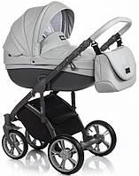 Детская коляска универсальная 2в1 Roan Bass Soft Eco Dove grey (Роан Басс, Польша)