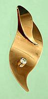 Золотий підвісок з цирконом