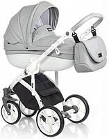 Детская коляска универсальная 2в1 Roan Bass Soft Eco Dove White (Роан Басс, Польша)