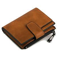 Стильный кошелек Lindo - Компактный и Функциональный (коричневый)