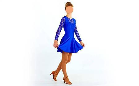 Платье Рейтинговое (бейсик) с гипюром UR DR-1642-BL , фото 2