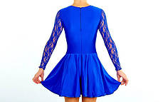 Платье Рейтинговое (бейсик) с гипюром UR DR-1642-BL , фото 3