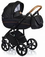 Детская коляска универсальная 2в1 Roan Bass Soft Eco Night Black (Роан Басс, Польша)