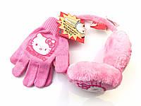 Розовые наушники и перчатки Disney на 3-6лет