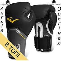 Боксерские перчатки Everlast черные | Боксерські рукавички Everlast чорні