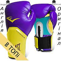 Боксерские перчатки Everlast желто-синие | Боксерські рукавички Everlast жовто-сині